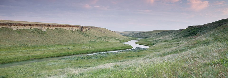 North Milk River meanders through Sandstone Ranch, Alberta