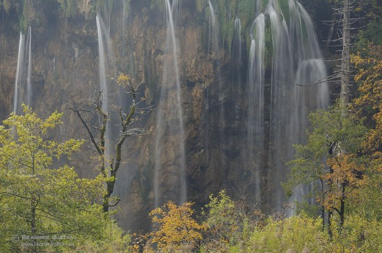 Detail of Veliki Prstavac waterfall, Plitvice Lakes National Park (UNESCO World Heritage Site)