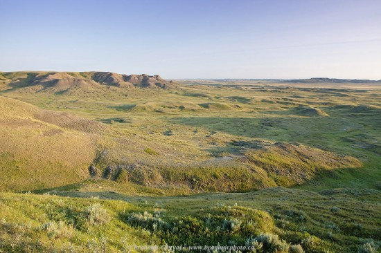 Frenchman River Valley and Three Siters Butte, Grasslands National Park - West Block, Saskatchewan