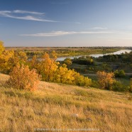 Fall colours along South Saskatchewan River at Wanuskewin