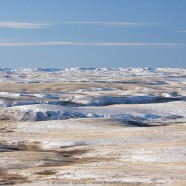 Early winter in Grasslands National Park, East Block badlands