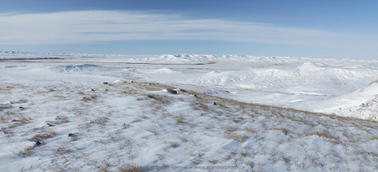 Wintery scene in Grasslands National Park, Saskatchewan