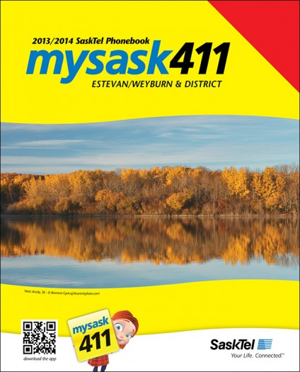 Estevan / Weyburn & District SaskTel phone book cover page