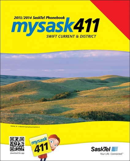 Swift Current & District SaskTel phone book cover