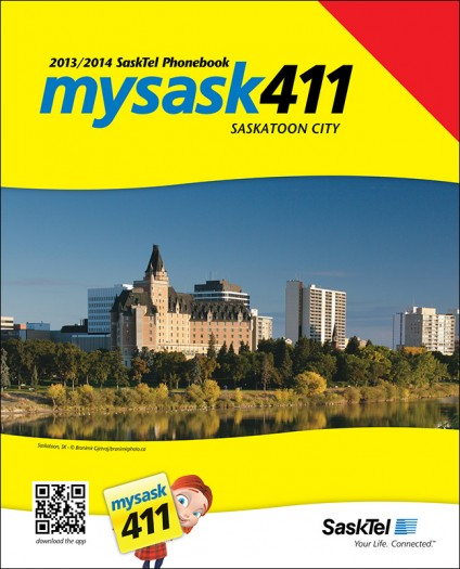 SaskTel 2013 phone book for the city of Saskatoon