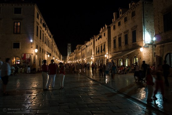 Stradun - Dubrovnik's main street at night