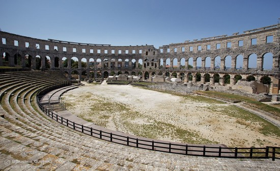 Arena - remains of the Roman amphitheatre in Pula, Croatia