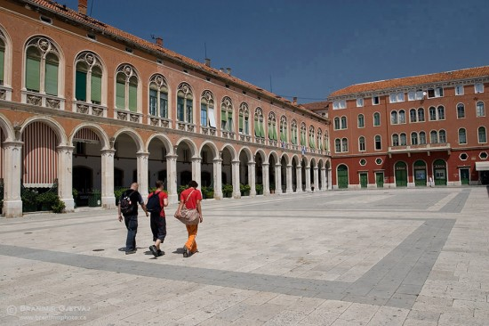 The Prokurative square in Split, Croatia