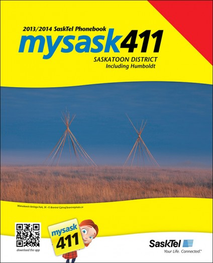 SaskTel 2013 phone book for the Saskatoon Discrict
