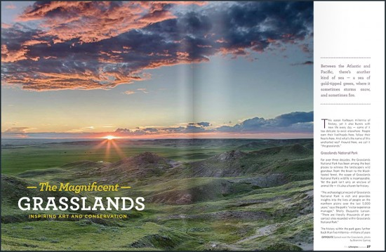 FineLifestyles SW edition - article about the Grasslands National Park