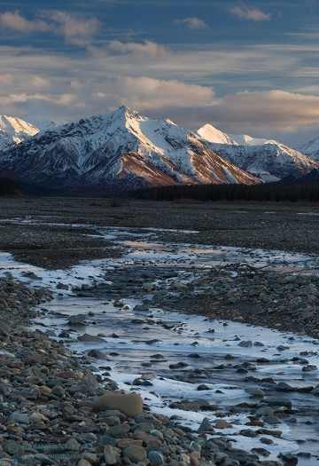 River and mountain range in the wilds of Alaska