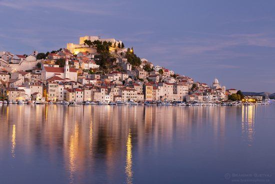 Sibenik at dusk, Croatia