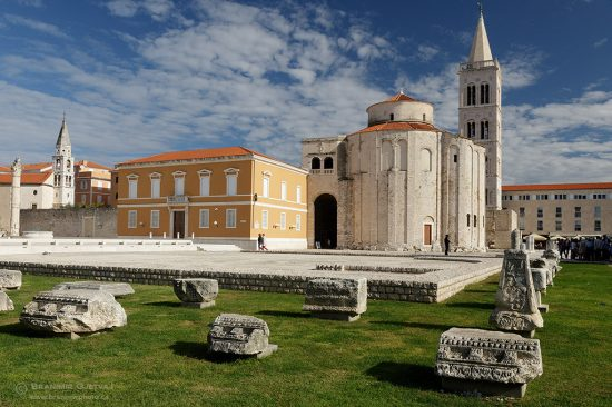 Church of St. Donatus (Crkva Svetog Donata) in Zadar, Croatia.