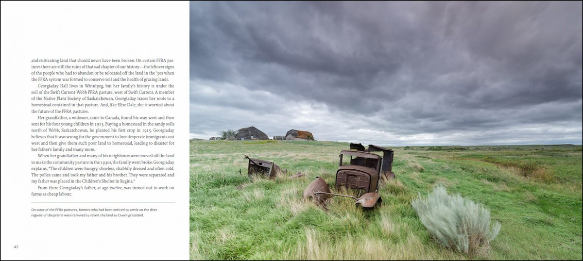 Islands of Grass book, text by Trevor Herriot, photographs by Branimir Gjetvaj