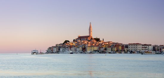 Croatian coastal town of Rovinj at sunrise