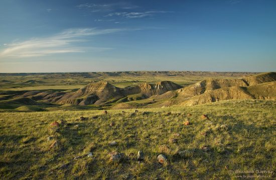 Tipi (teepee) rings in Grasslands National Park, Saskatchewan
