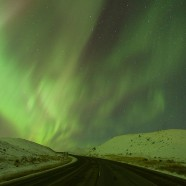 Northern Lights over Highway 4, Saskatchewan Landing Provincial Park
