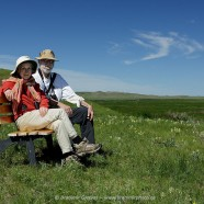 Margaret Atwood and Graeme Gibson visit PFRA Community Pastures